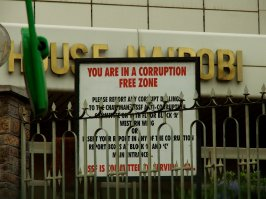 A 'corruption free zone', Nairobi.