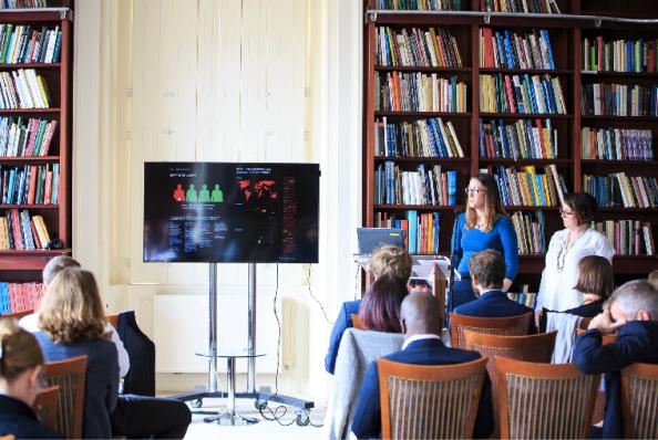 With Caryn Peiffer at a BA/DFID Anti-Corruption Evidence workshop, British Academy, London.