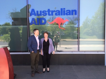 The last day of AusAID, Canberra.