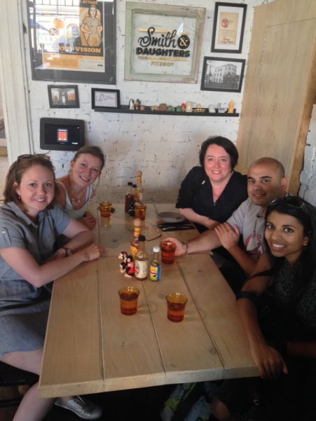 DLP team having down time in Melbourne.