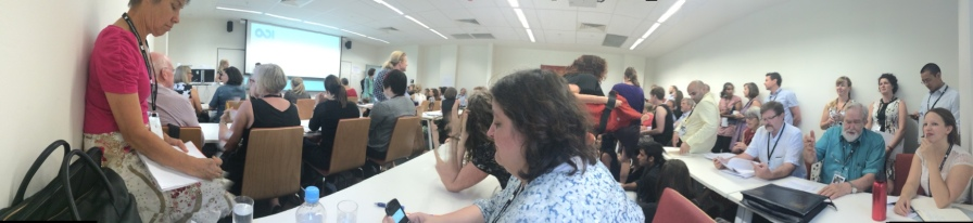 Standing room only on TWP at the Australasian Aid Conference, Canberra.